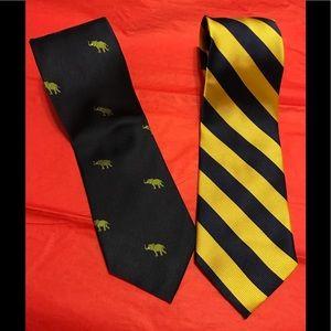 Bundle of two J. Crew silk ties